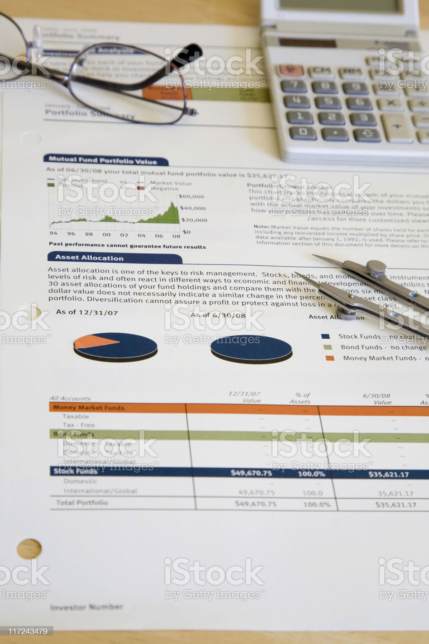 Report Summary royalty-free stock photo