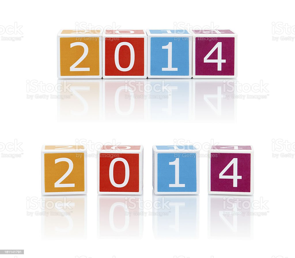 Report Topics With Color Blocks. 2014. royalty-free stock photo