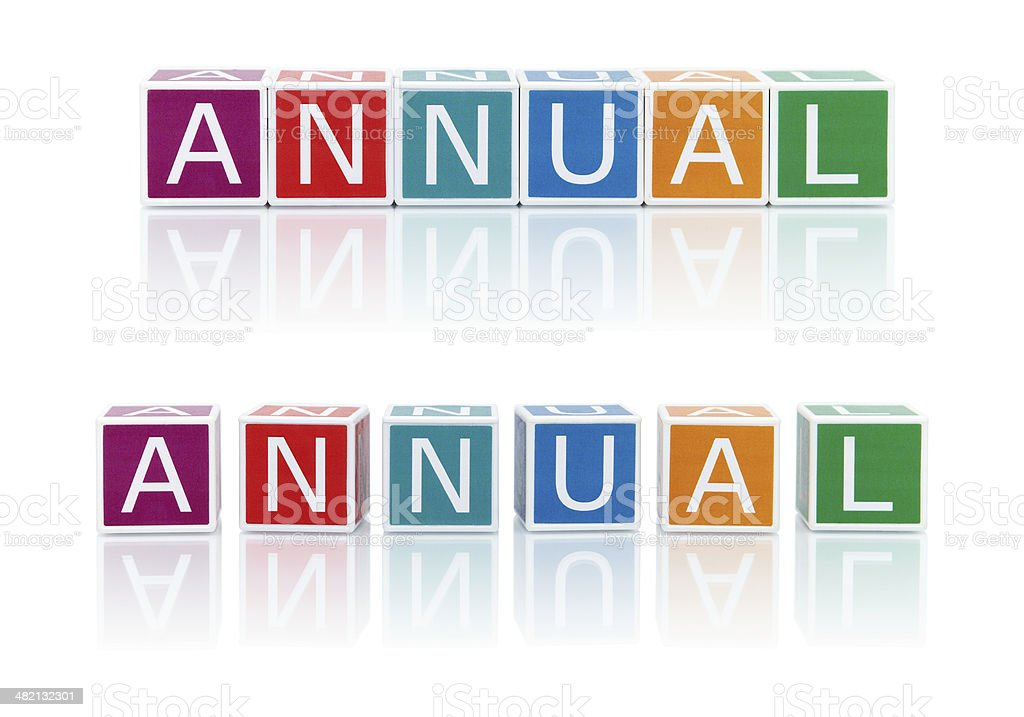 Report Topics With Color Blocks. Annual. royalty-free stock photo