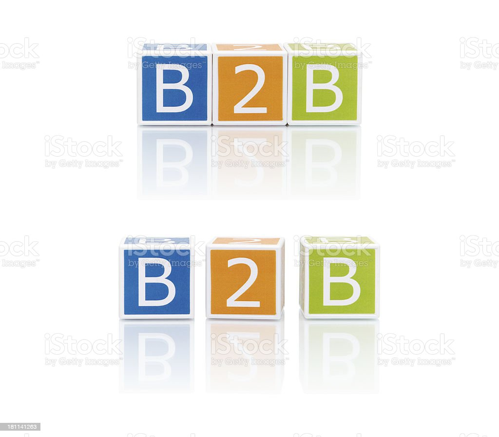 Report Topics With Color Blocks. B2B. royalty-free stock photo