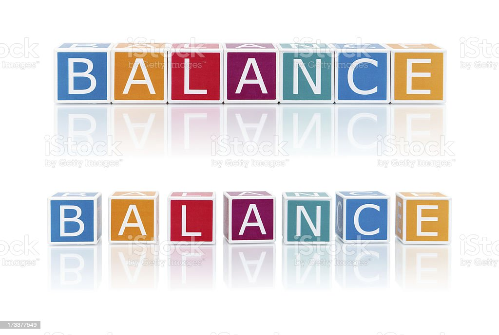 Report Topics With Color Blocks. Balance. royalty-free stock photo