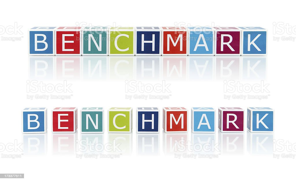 Report Topics With Color Blocks. Benchmark. royalty-free stock photo