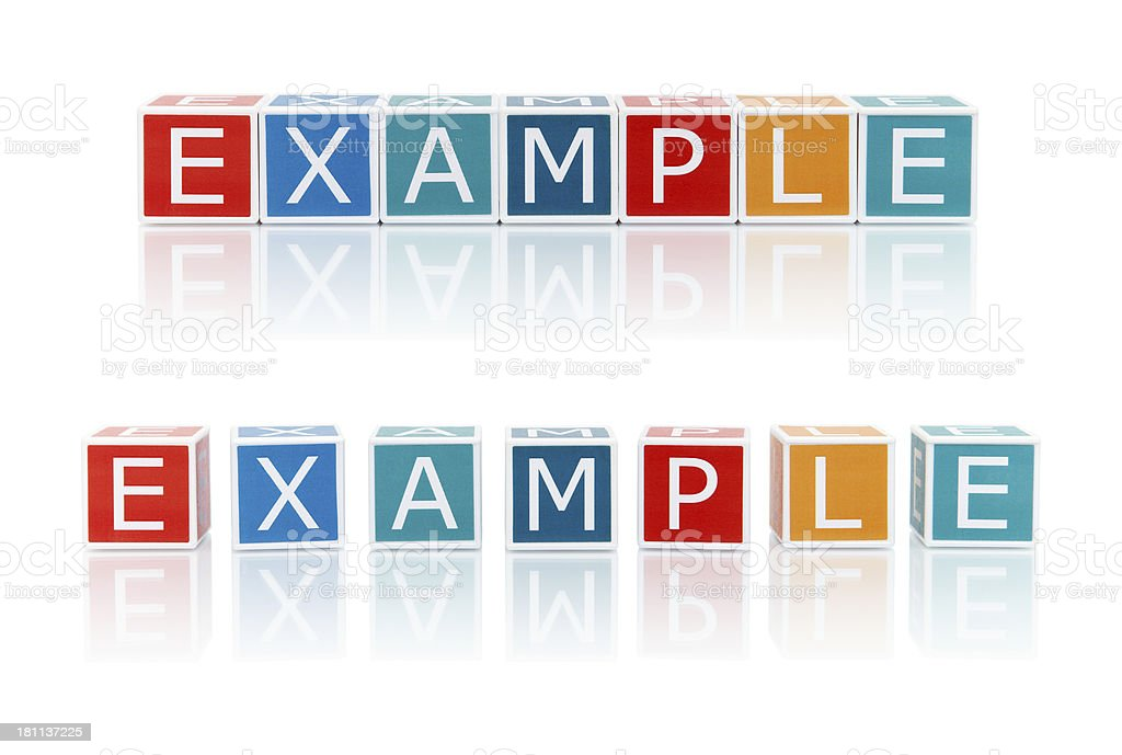 Report Topics With Color Blocks. Example. royalty-free stock photo