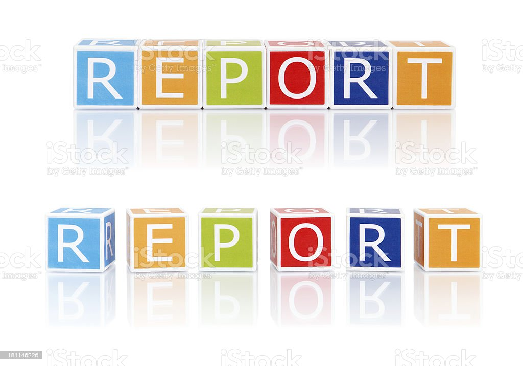 Report Topics With Color Blocks. Report. royalty-free stock photo