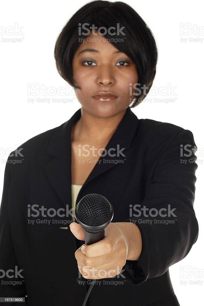 TV Reporter Interviews royalty-free stock photo