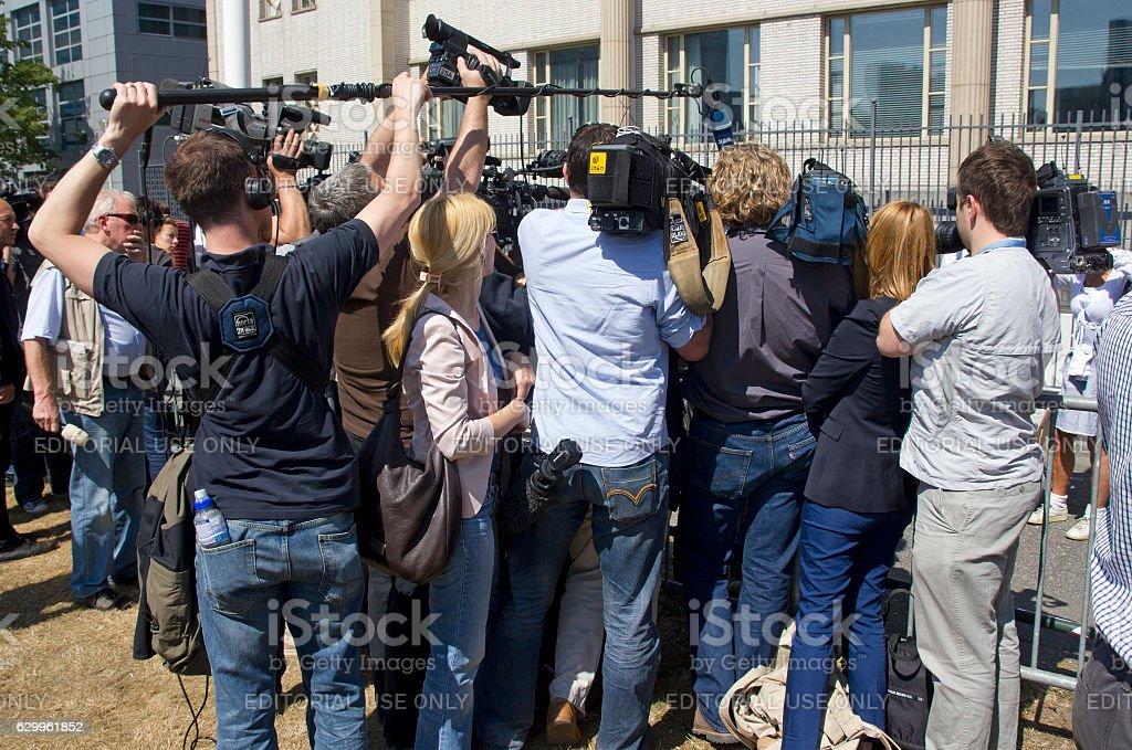 TV Reporters stock photo