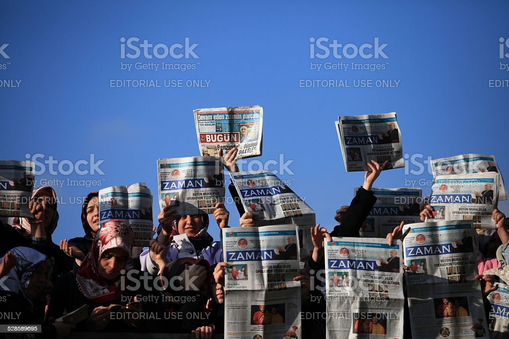 Reporters Police Operation stock photo
