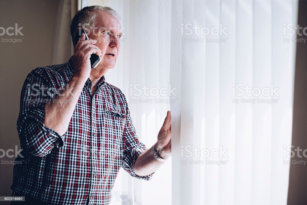 Reporting a Crime stock photo