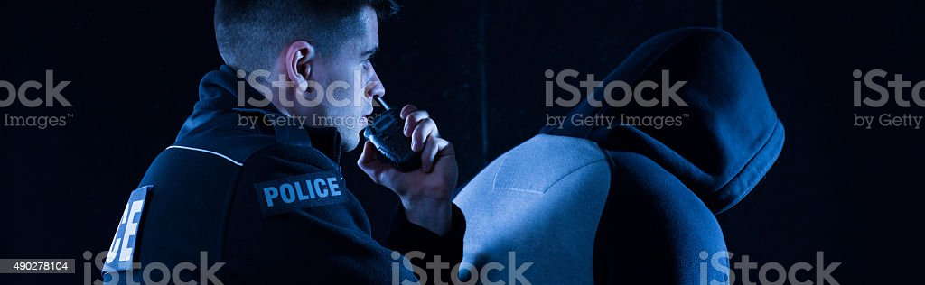 Reporting to the boss stock photo