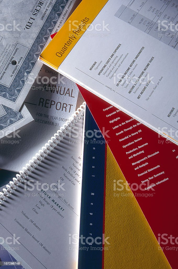 Reports & Bonds 2 royalty-free stock photo
