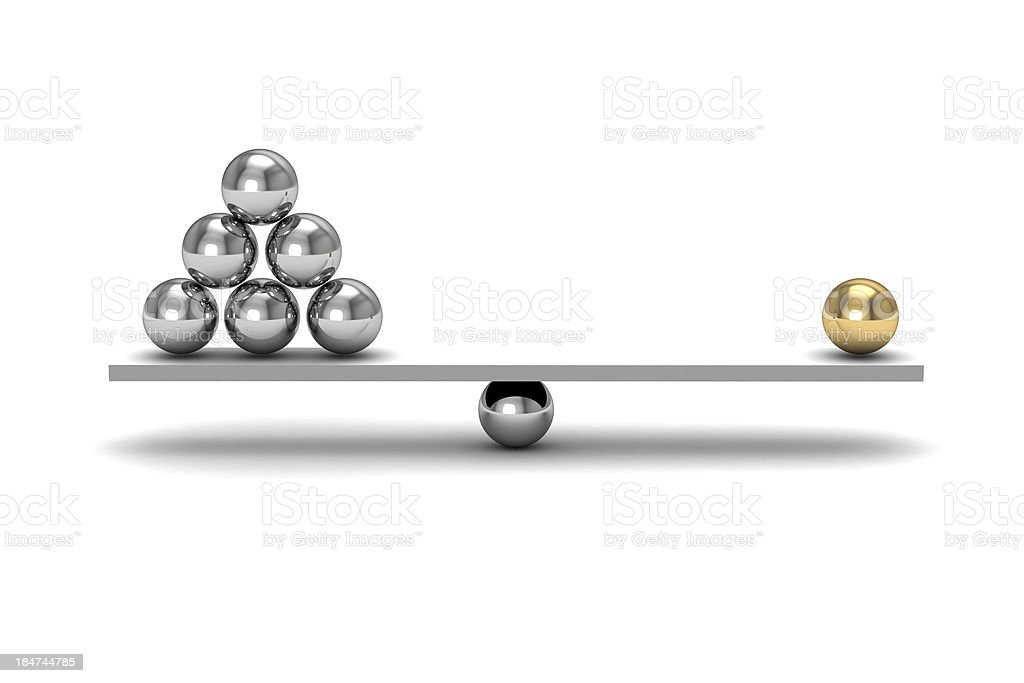 Representation of a misbalance stock photo
