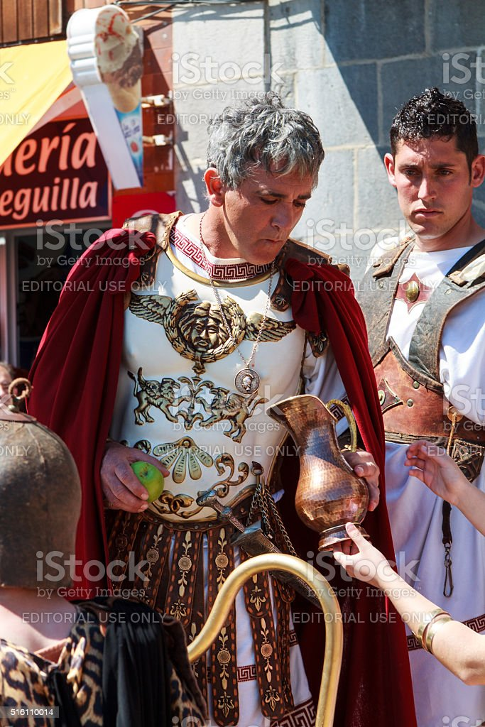 Representation of passion of Christ in Castro Urdiales, Spain stock photo