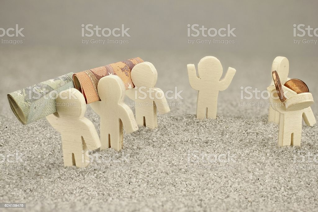 Representation rich and poor stock photo