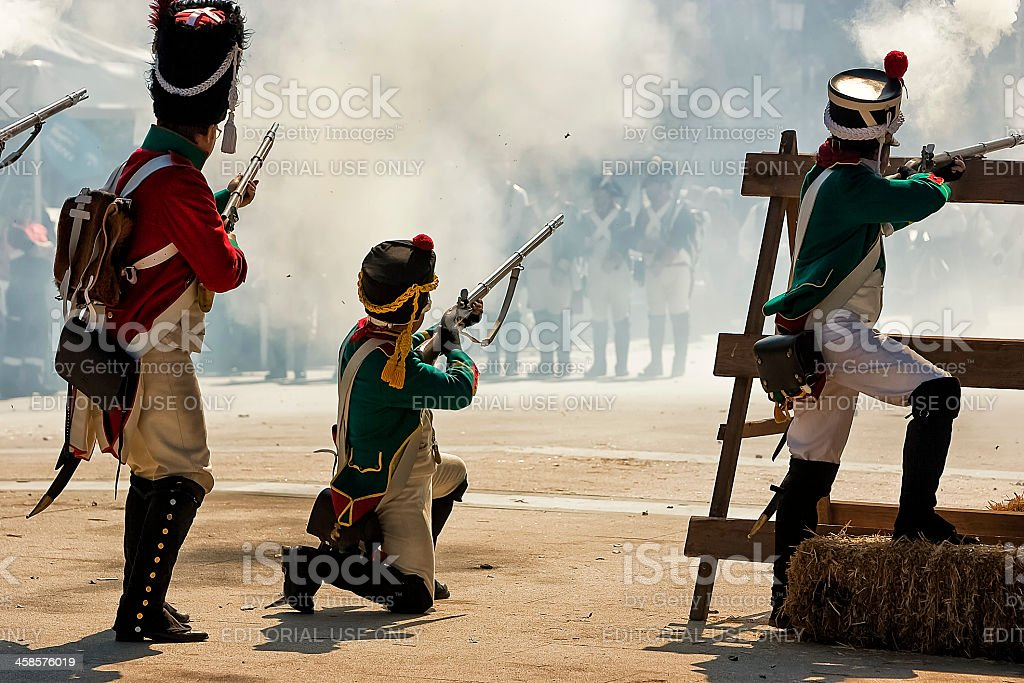 Representation the Battle of Bailen stock photo