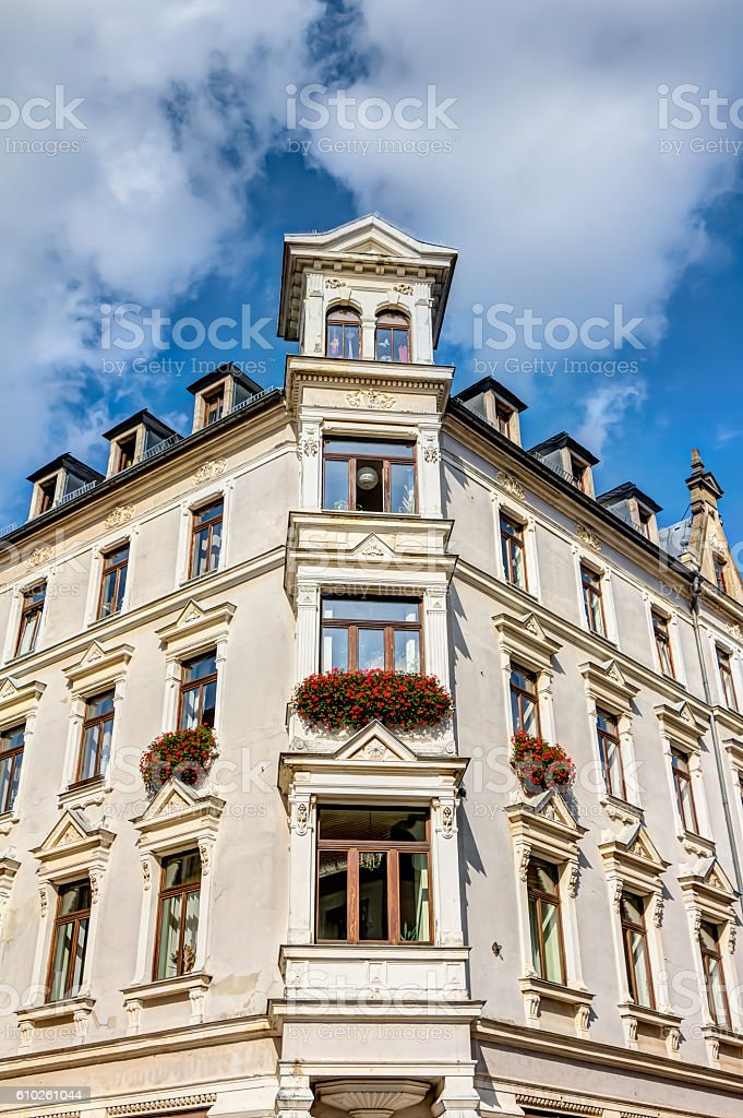 Representative building in Freiberg stock photo