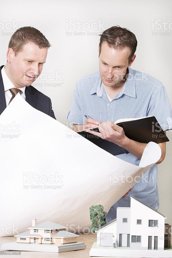 Representative selling contruction materials royalty-free stock photo