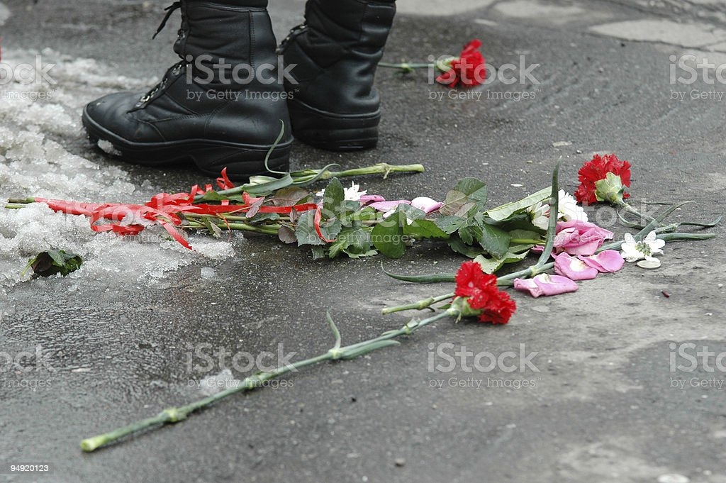 Repression boot royalty-free stock photo