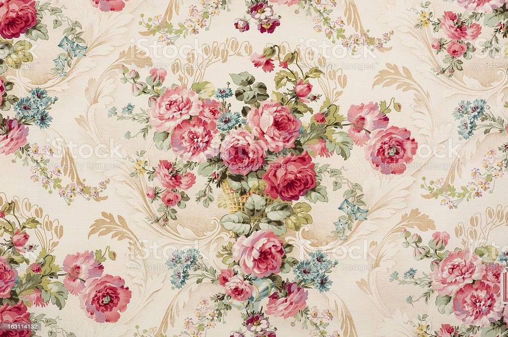 Reps Floral Fabric 07726868 Close Up stock photo