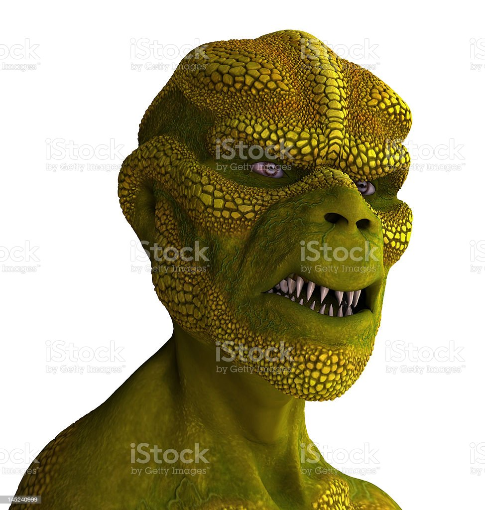 Reptilian Alien Portrait stock photo