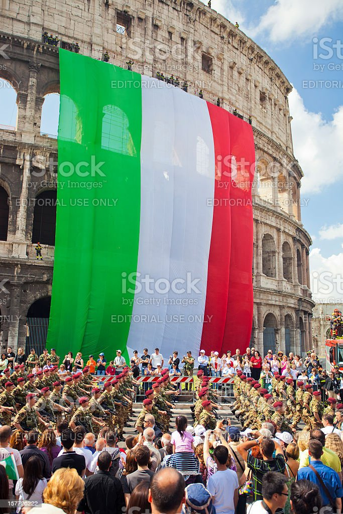 Republic Day In Rome. royalty-free stock photo