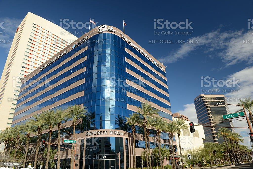 Republic Media Building in Downtown Phoenix stock photo