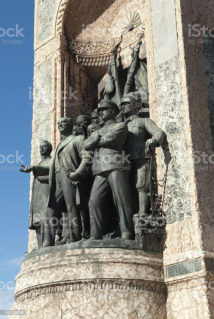 Republic Monument in Istanbul, Turkey stock photo