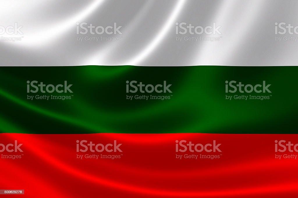 Republic of Bulgaria's Flag stock photo