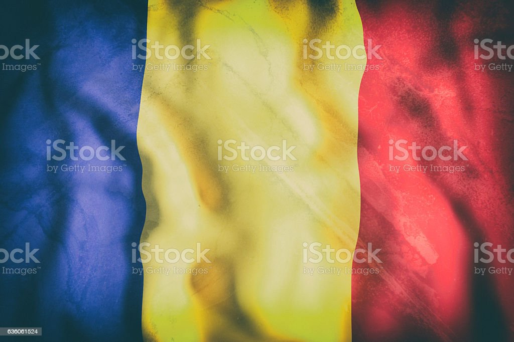 Republic of Chad flag waving stock photo