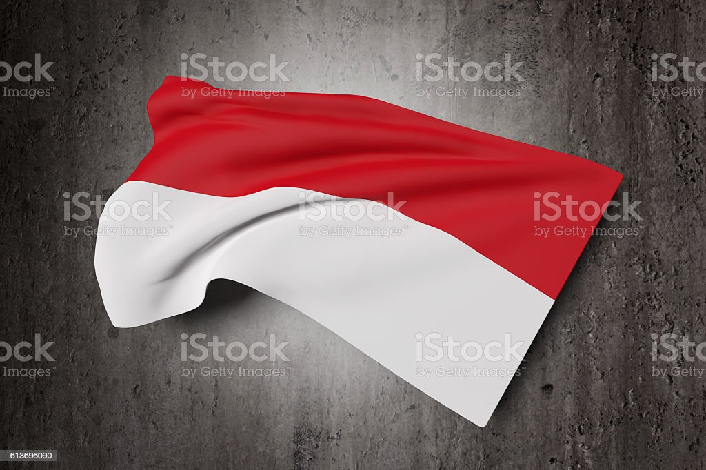 Republic of Indonesia flag waving stock photo