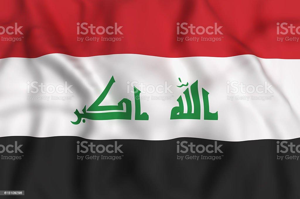 Republic of Iraq flag waving stock photo
