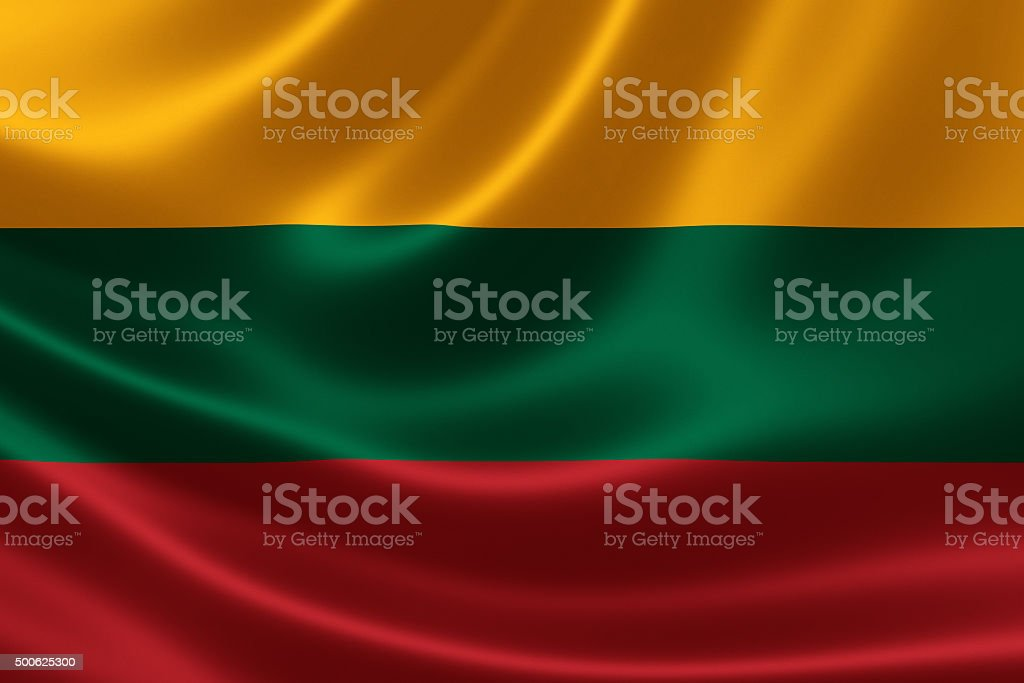 Republic of Lithuania's National Flag stock photo