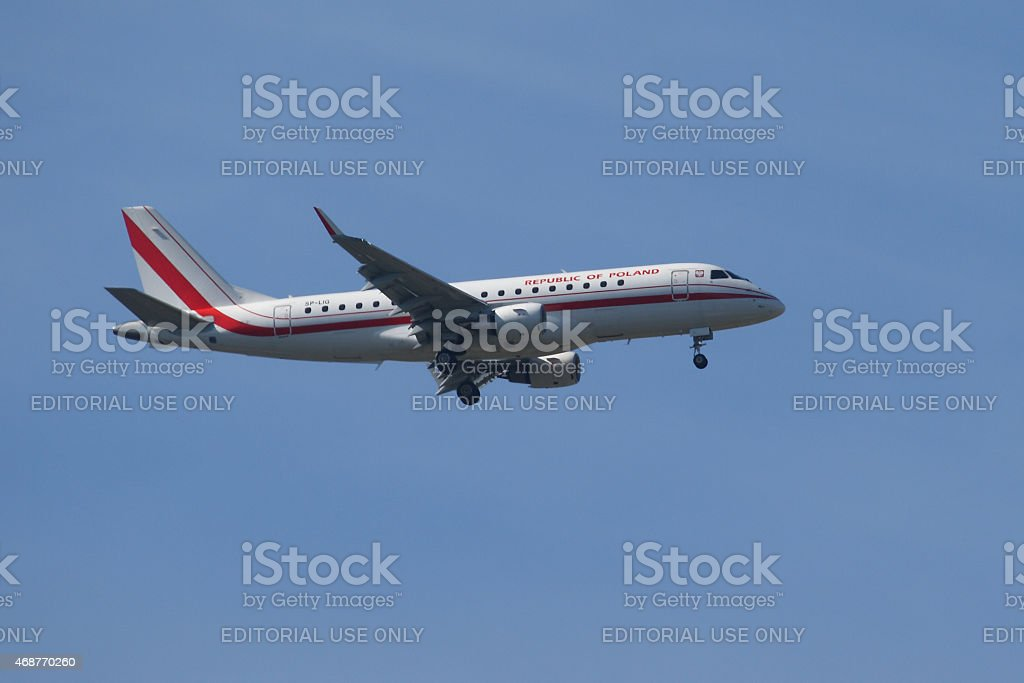 Republic of Poland Embraer 175 SP stock photo