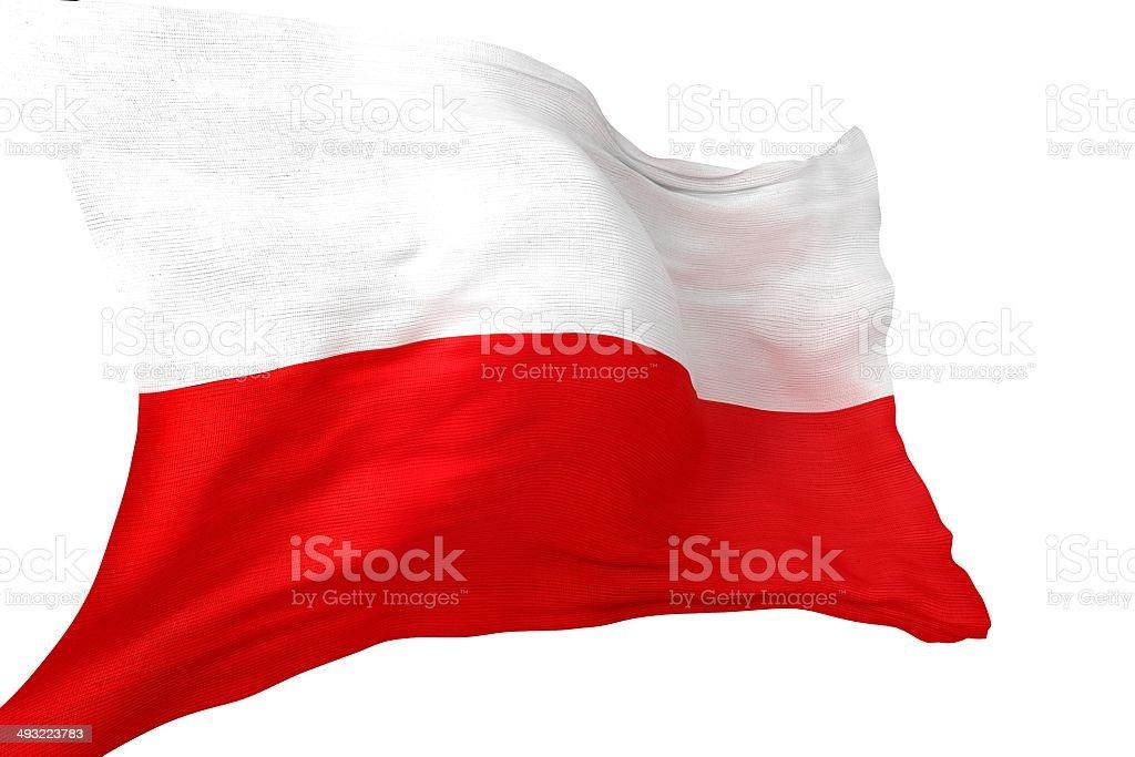 Republic of Poland Flag stock photo