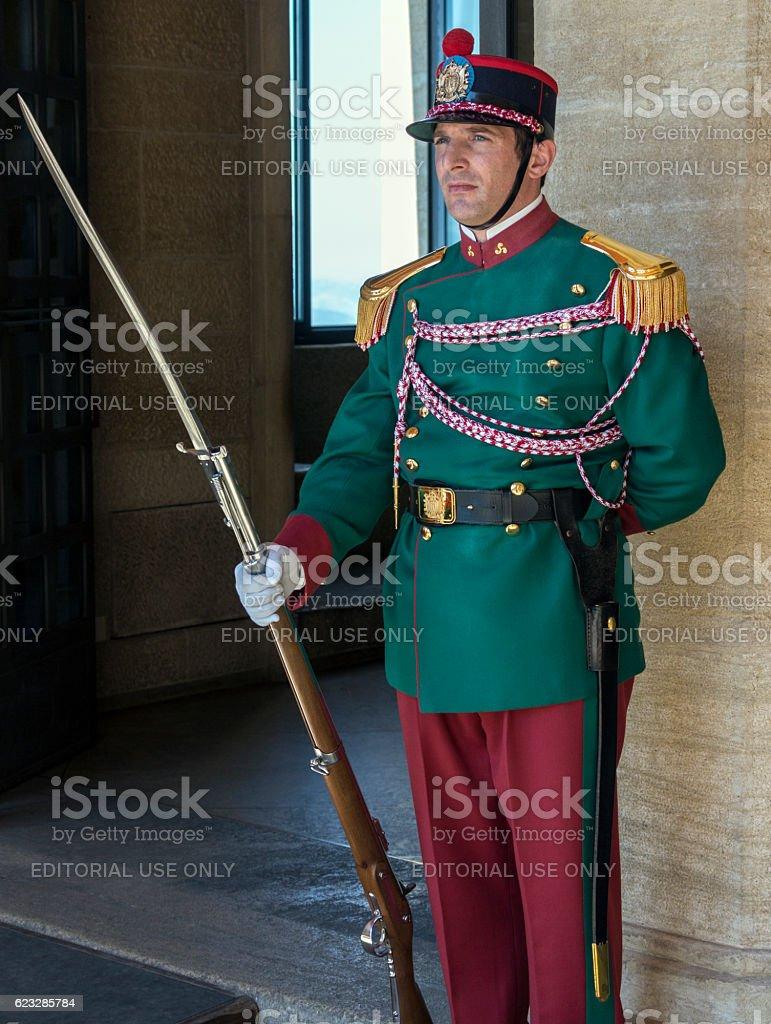 Republic of San Marino - Guard of the Rock stock photo