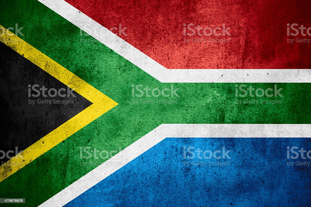 Republic of South Africa flag stock photo