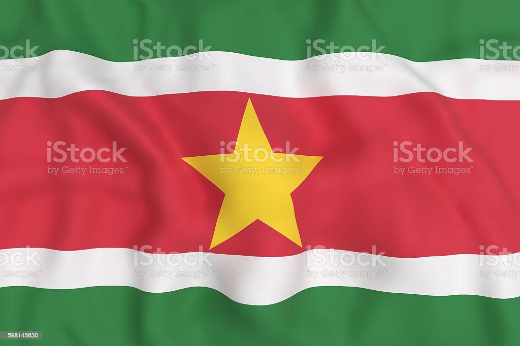 Republic of Suriname flag waving stock photo