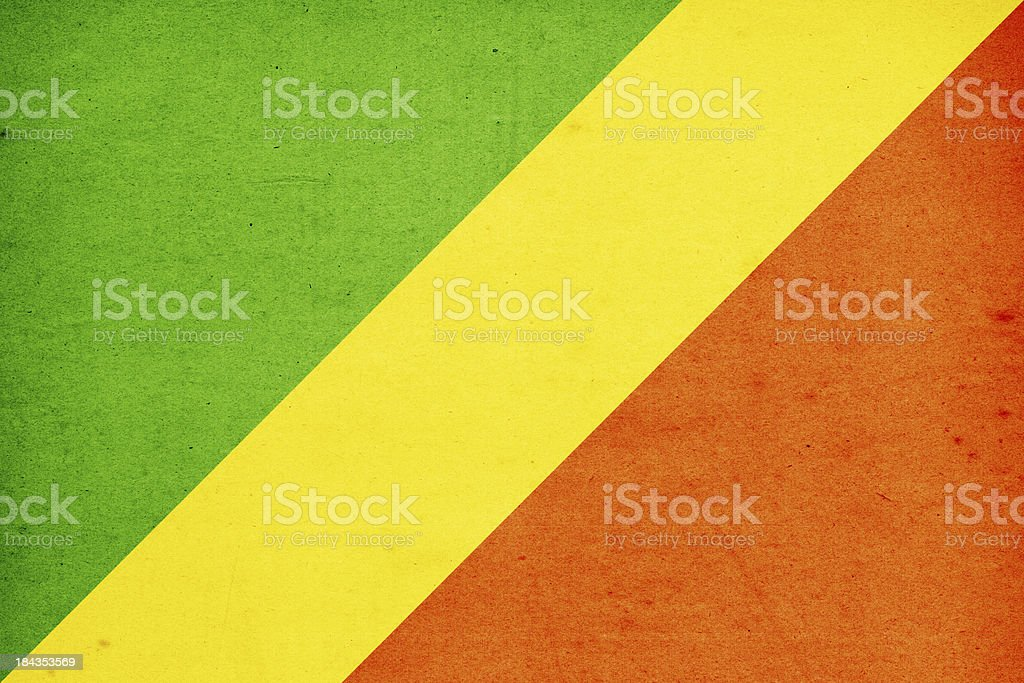 Republic of the Congo Flag Close-Up (High Resolution Image) stock photo