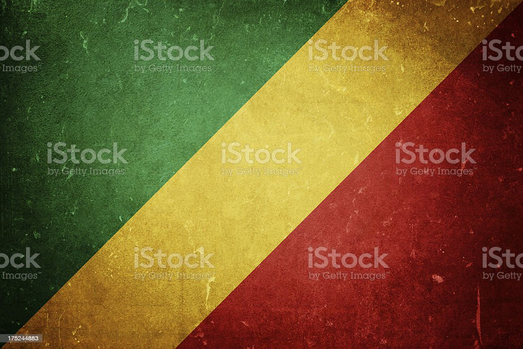 Republic of the Congo Flag royalty-free stock photo