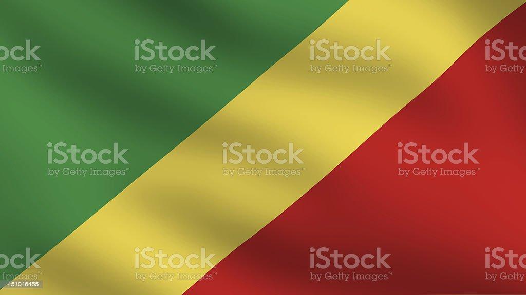 Republic of the Congo flag stock photo