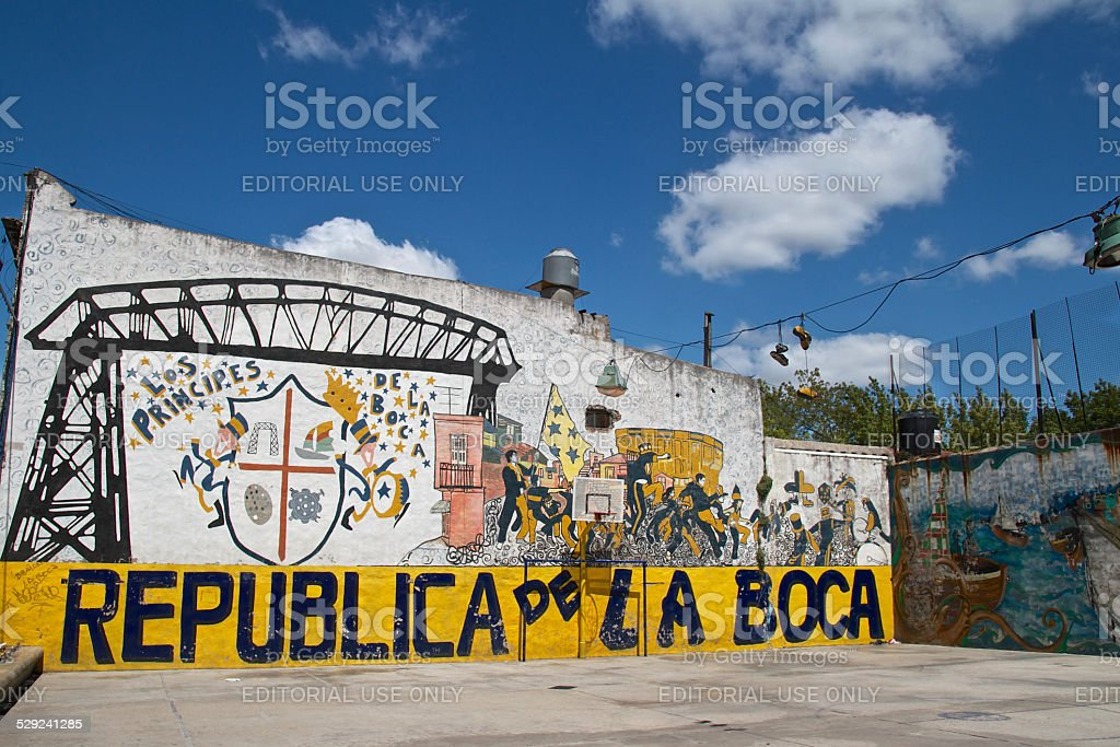 Republica de la Boca stock photo