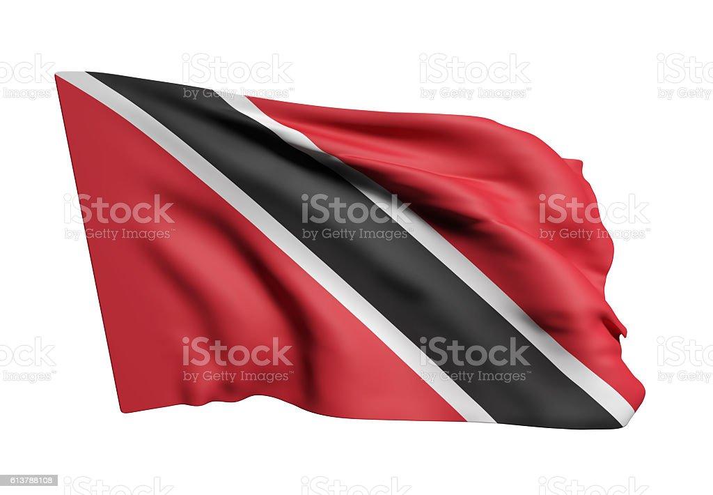 Republic of Trinidad and Tobago flag waving stock photo