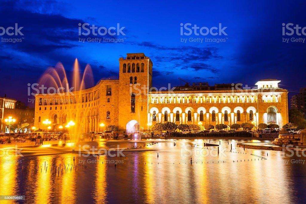 Republic Square, Yerevan stock photo