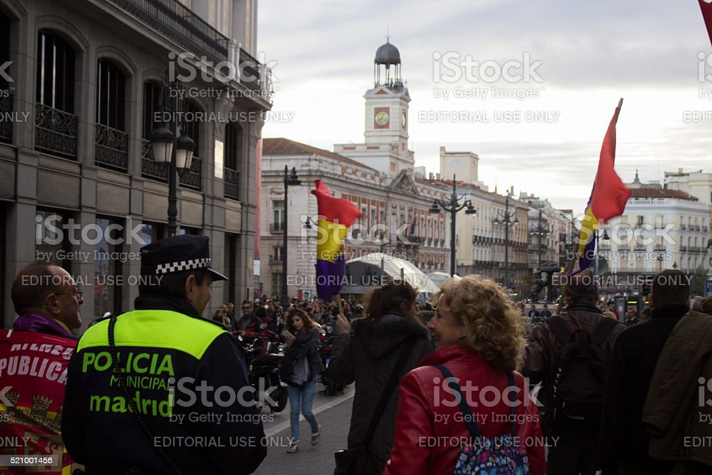 Manifestación republicana en Madrid stock photo