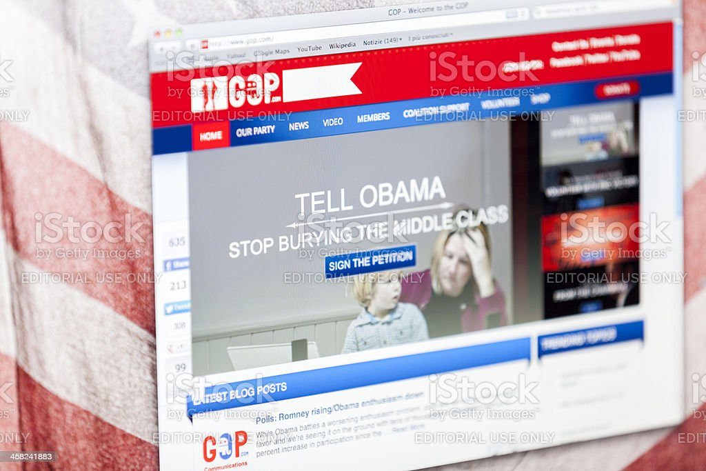 USA Republican Party Official Web Page stock photo
