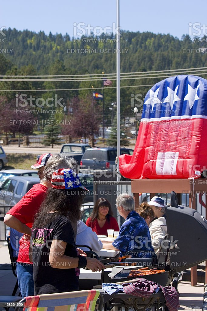 Republican Political BBQ royalty-free stock photo