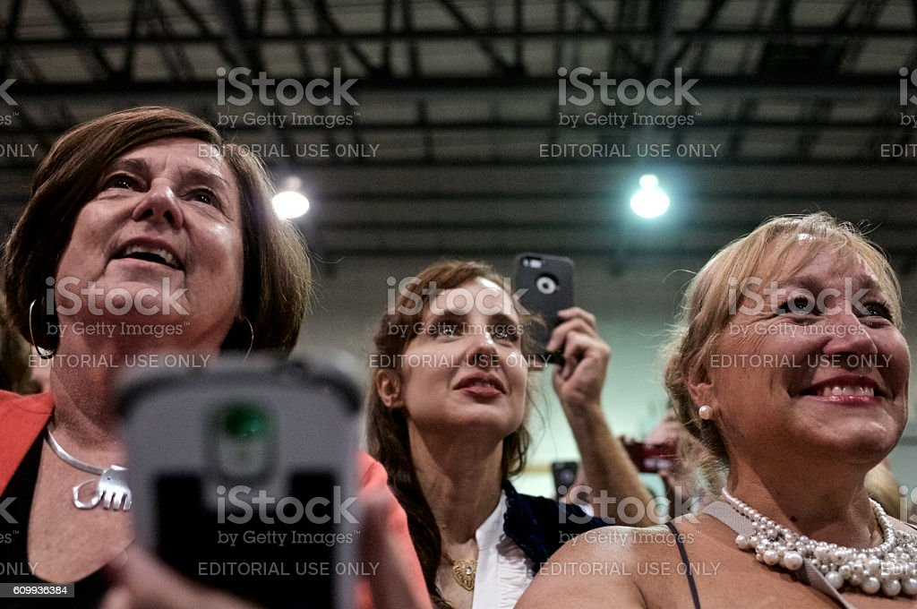 Republican presidential candidate Donald Trump Rallies in Aston, PA stock photo