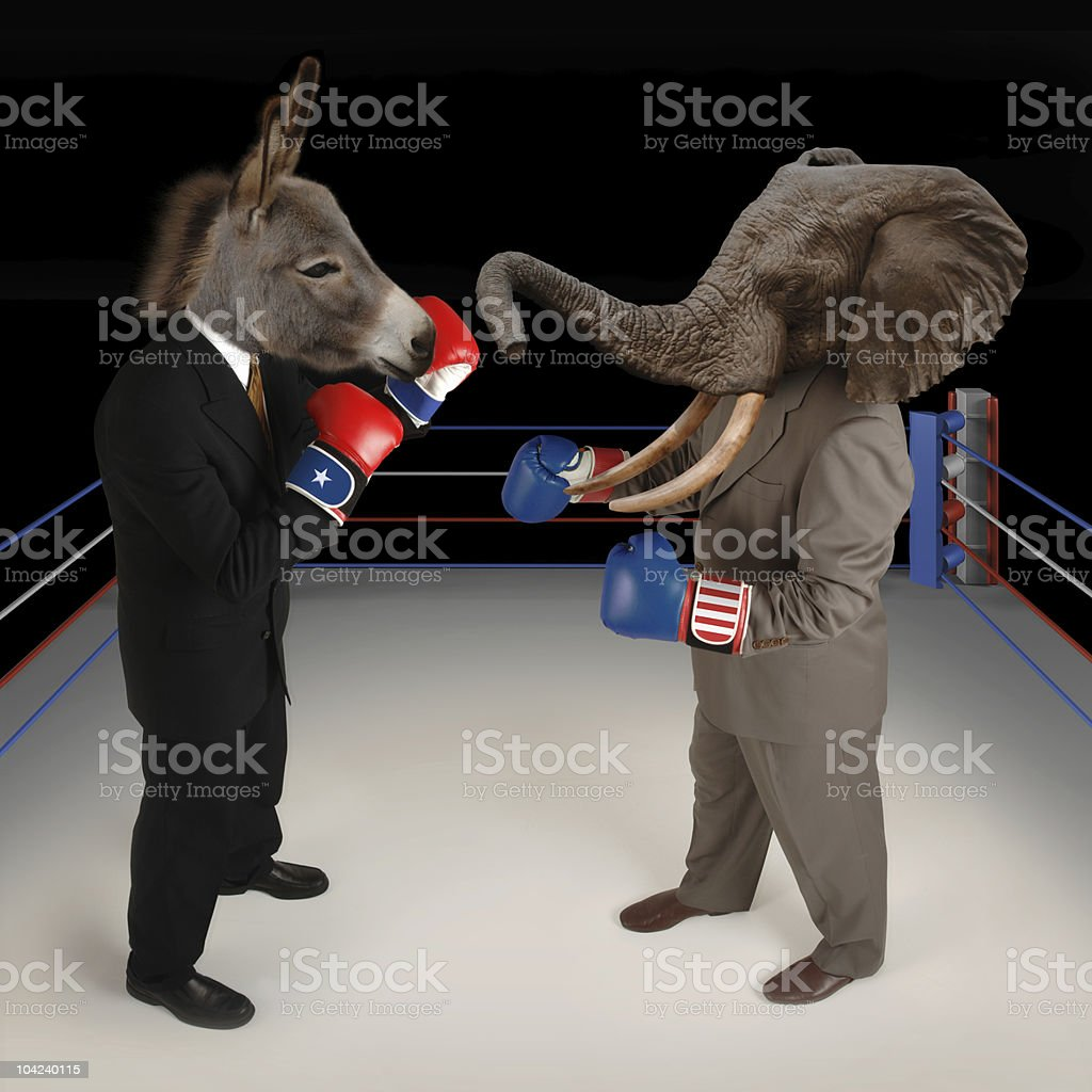 Republican vs. Democrat stock photo