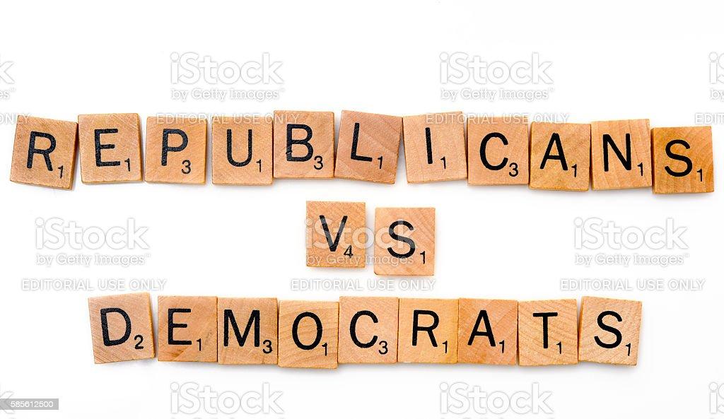 Republicans Vs Democrats stock photo