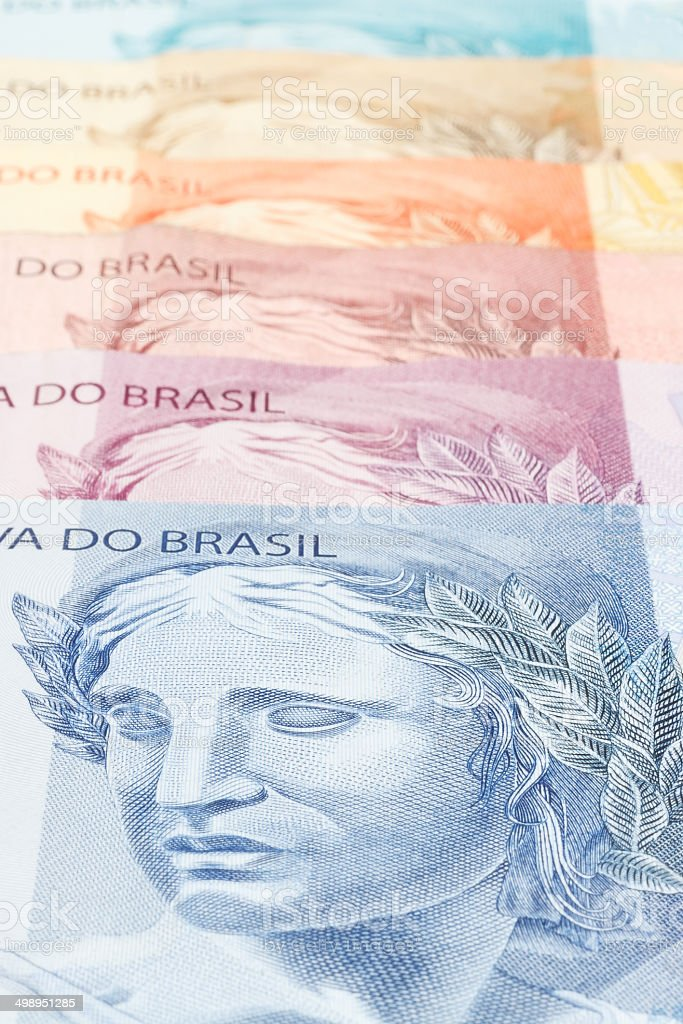 Republic's Effigy portrayed as a bust on Brazilian Real stock photo