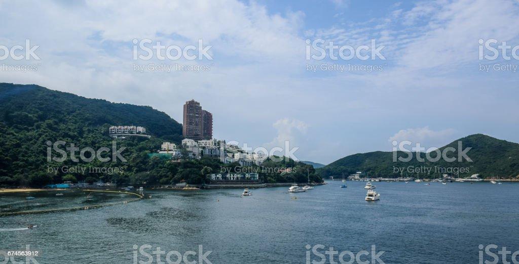 Repulse Bay beach in Hong Kong stock photo